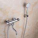 Mitigeur de douche à main thermostatique cuivre chromé pour salle de bains