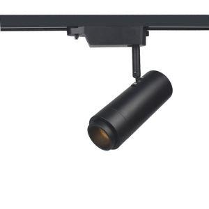 Projecteur à LED Spotlight rond moderne en noir/blanc