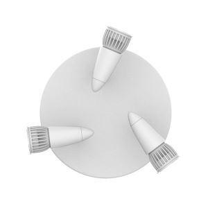 Projecteur LED à 3 spots rotatif en aluminium pour salon couloir