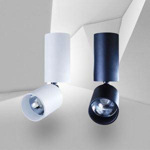 Projecteur LED colonne rotatif en aluminium moderne pour couloir boutique