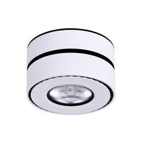 Projecteur rotatif en aluminium LED rond pour salon chambre à coucher