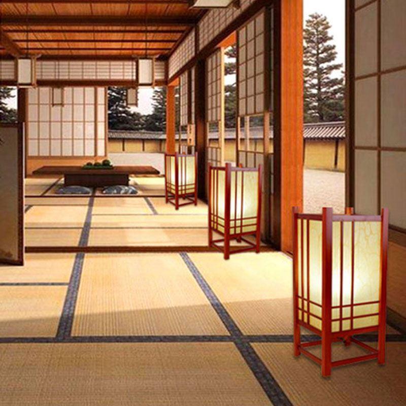 Bois Massif Style À Coucher H43cm En Lampe Simple Pour Poser Hôtel Chambre Japonais 76bgyf