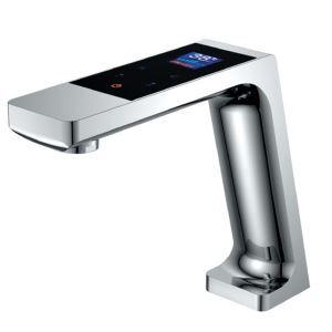 Robinet de lavabo intelligent à écran tactile, ultra-contemporain, fini chromé