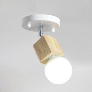Projecteur mini à 1 spot en bois massif métal pour couloir bar boutique