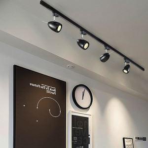Projecteur mini en aluminium ovale style moderne pour salon boutique couloir