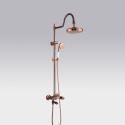 Colonne de douche avec robinetterie cuivre noir pour salle de bains rétro magnifique