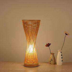 Lampe de table tissée vase en bambou à la mode pour chambre à coucher salle d'étude