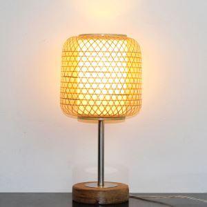 Lampe de table tissée en bambou lanterne pour chambre à coucher salle d'étude