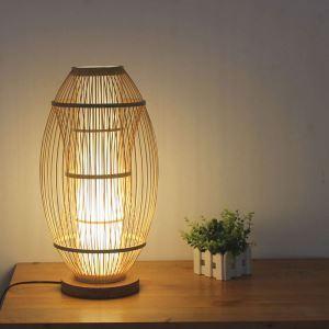 Lampe à poser en bambou H51cm à la mode pour chambre à coucher salle d'étude