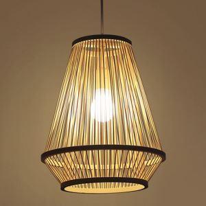 Suspension tissée lanterne en bambou moderne pour chambre à coucher couloir