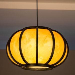 Suspension japonaise en bambou lanterne simple pour salle à manger salon