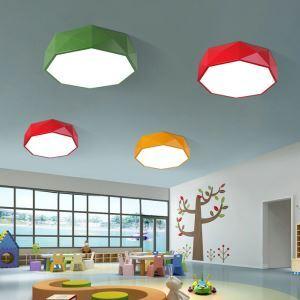 Plafonnier lampe de plafond pour chambre d'enfant couloir luminaire géométrique créatif simple moderne à 3 modèles