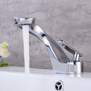 Robinet de lavabo monopoignée avec design unique pour salle de bains