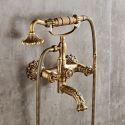 Colonne de douche en laiton antique avec robinetterie pour salle de bains