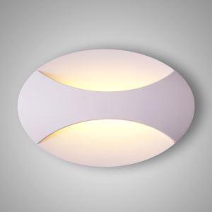 Applique murale en aluminium ovale simple pour chambre à coucher couloir