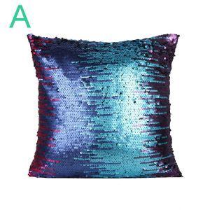 Housse de coussin paillettes multicolore 40*40cm pour canapé sofa