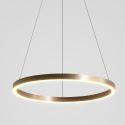 Suspension LED anneau en alliage d'aluminium acrylique pour salon salle à manger
