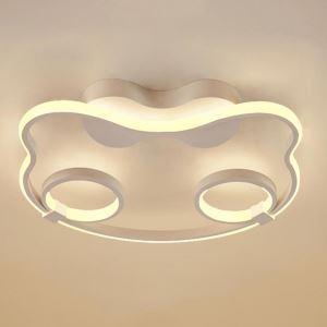Plafonnier LED chat cartoon simple en aluminium pour chambre d'enfant salle