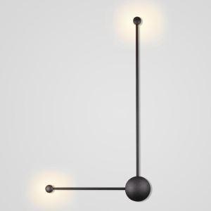 Applique murale LED en aluminium noire style moderne pour salon chambre