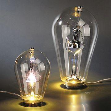 Lampe poser verre h 40cm veilleuse lampe de nuit pour chambre salon - Veilleuse pour salon ...