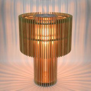 Lampe de table en bois massif style moderne pour chambre à coucher