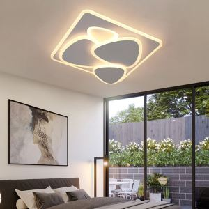 Plafonnier LED carré en acrylique style nordique pour salon chambre à coucher