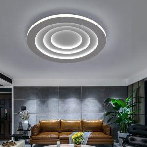 Plafonnier plusieurs ronds LED en fer simple moderne pour chambre à coucher salon