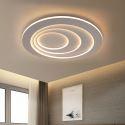 Plafonnier simple moderne rond LED en fer pour couloir salon chambre