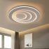 Afficher les détails pour Plafonnier simple moderne rond LED en fer pour couloir salon chambre