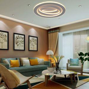 Plafonnier rond LED en fer style simple moderne pour chambre à coucher salon