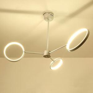 Suspension LED moderne trois anneaux en fer pour salon chambre à coucher