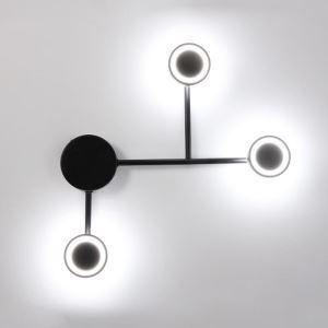 Applique murale LED en acylique fer noir pour salon couloir chambre à coucher