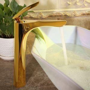 Mitigeur de lavabo laiton H30.2cm 4 couleurs pour salle de bain