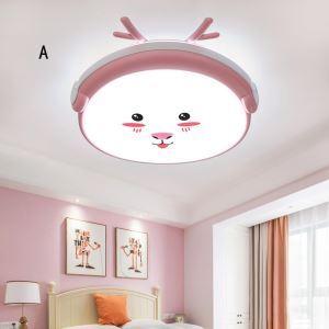 Plafonnier moderne acrylique LED pour chambre à coucher d'enfant style cartoon