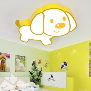 Plafonnier à LED contemporain design cartoon chien pour enfants