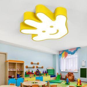 Moderne simple lampe de plafond LED caricature créatif pour chambre d'enfant