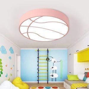 Plafonnier LED moderne basket-ball forme pour chambre à coucher d'enfant