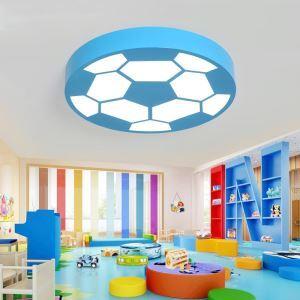 Plafonnier LED moderne à dessin animé football pour chambre à coucher garçons