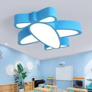 LED Lampe de plafond moderne forme avion 33W pour chambre d'enfant