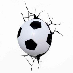 LED 3D Applique murale créative forme de football style moderne simple mode pour chambre d'enfant