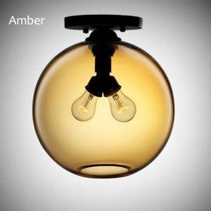 Plafonnier en verre moderne coloris luminaire design bulle H25.5cm pour restaurant salle