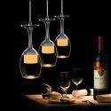 Patch LED pour plafonnier à 3 lumières LED D25cm 3Wx3 verre à vin tasse moderne, nombre 3