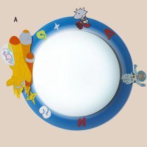Lampe moderne créatif plafonnier LED à design spatial pour chambre d'enfants