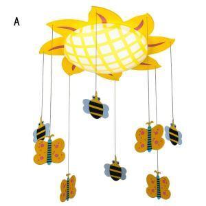 Plafonnier LED de chambre d'enfant lampe de tournesol mignonne pour enfants