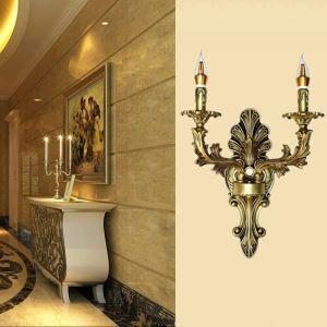 Lampe murale 2 têtes créative pour salon chambre,  style rétro européen