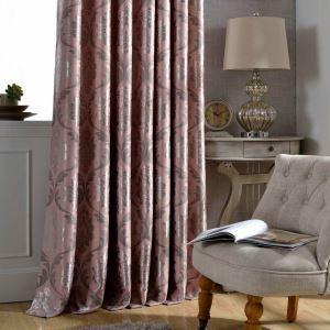 Taie d'oreiller personnalisée,occultant jacquard rose en même tissu que le rideau réf:cs3013p36456