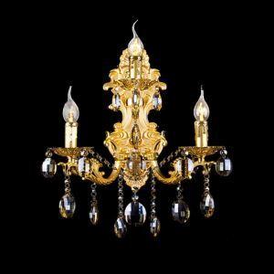 Applique en cristal de mode européenne pour salon couloir à 3 lampes