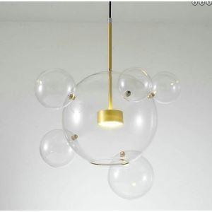 Boule transparent en verre 15 cm pour la suspension Réf:  ltp0412