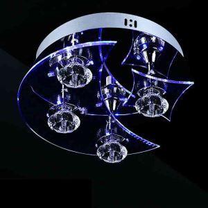 Plafonnier cristal rond D24cm design luminaire couloir entrée cuisne salon chambre