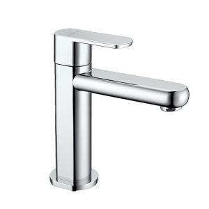 Robinet d'évier moderne chromé poignée simple pour salle de bains